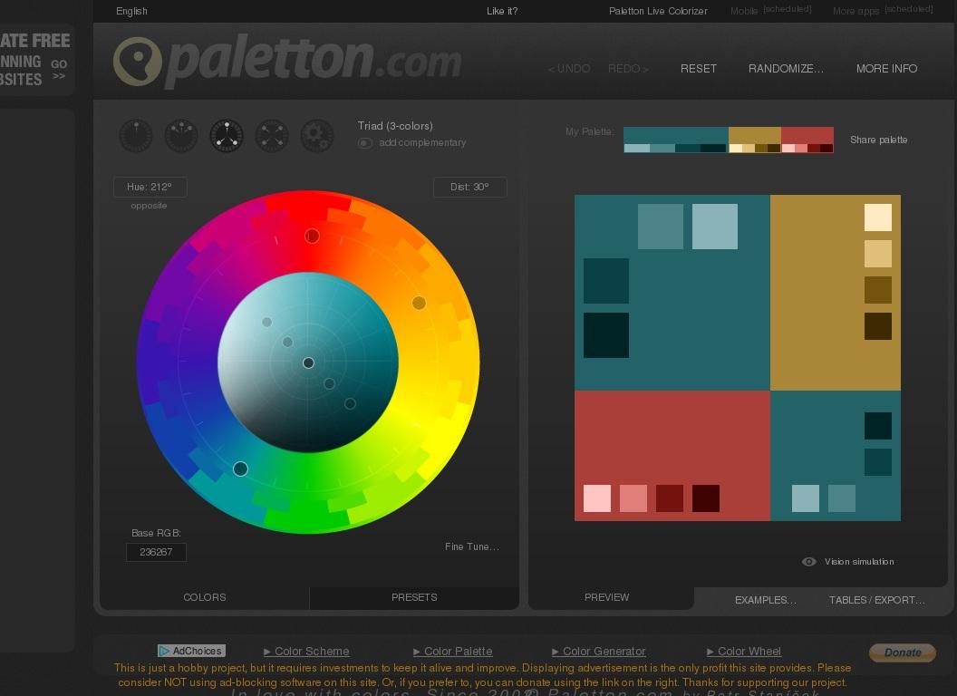 Paletton - The Color Scheme Designer • Aaron Parecki
