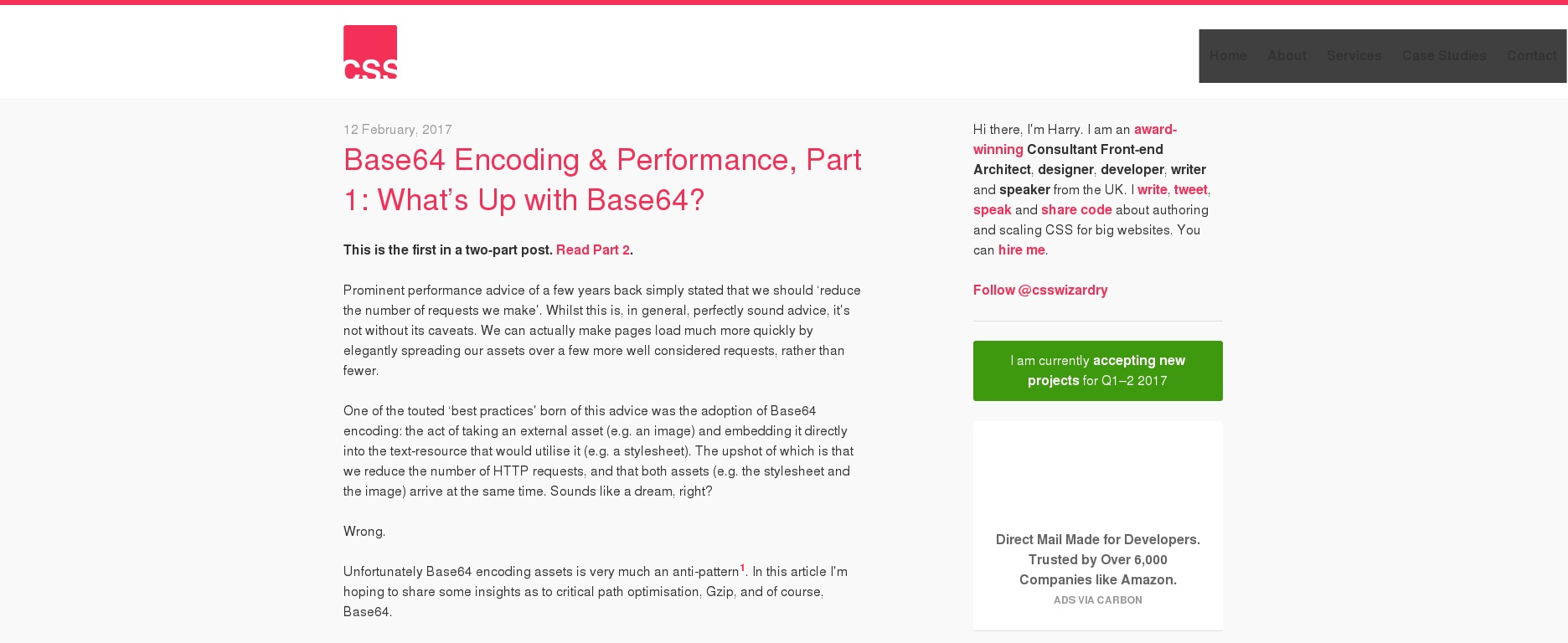 Base64 Encoding & Performance, Part 1: What's Up with Base64